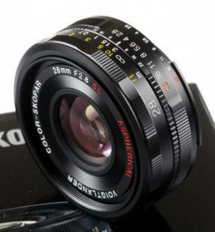 Voigtlander 28mm SLIIN 28/2 8 Color Skopar Nikon Mount Lens