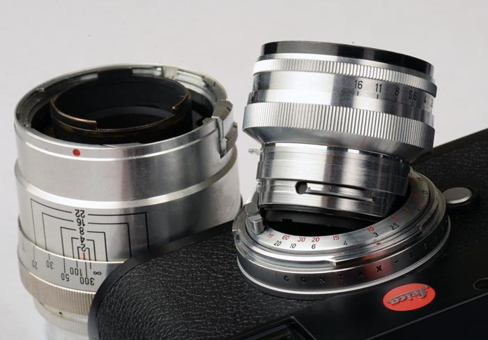 Amedeo Zeiss Contax Rangefinder Mount to Leica M Mount Adapter